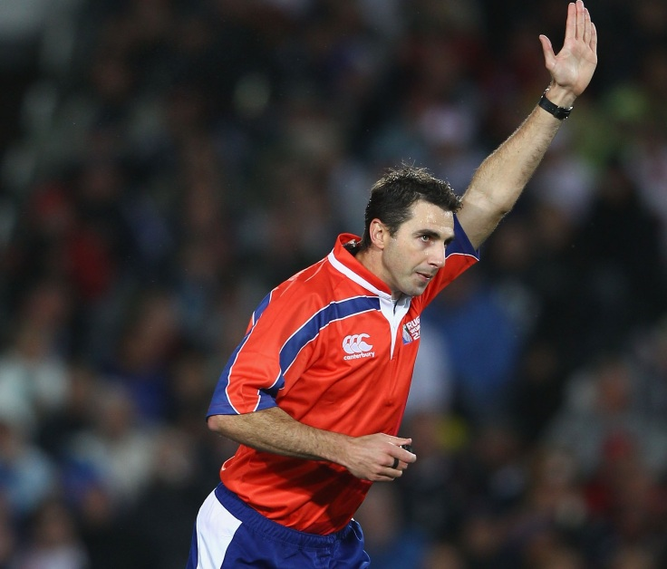 AUCKLAND, NEW ZEALAND - OCTOBER 01: Referee Craig Joubert in action during the IRB 2011 Rugby World Cup Pool B match between England and Scotland at Eden Park on October 1, 2011 in Auckland, New Zealand. (Photo by Hannah Johnston/Getty Images)